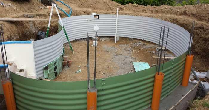 costruire una piscina a roma con sistema a pannelli int