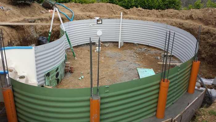 costruire una piscina a roma con sistema a pannelli